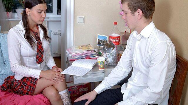анал с молодой красивой студенткой