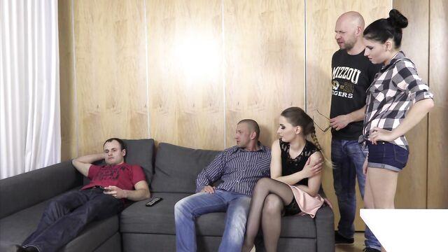 полячки решили трахнуться вместе семьями
