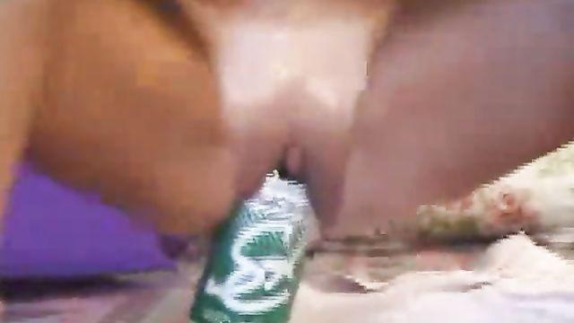 Литровая бутылка спрайт в вагине