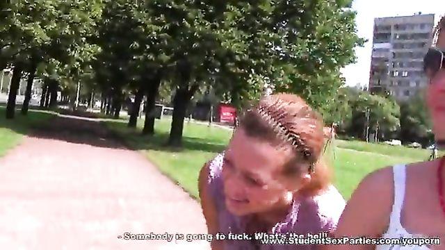 Русские студенты отрываются на пикнике