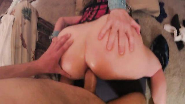 Домашнее порно видео анального секса от 1-го лица