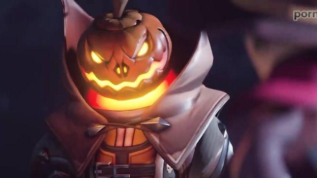Страшное чудовище на каждый Хэллоуин выходит на волю