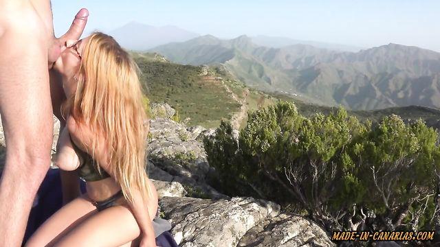Романтический секс в высокогорье альпийских гор