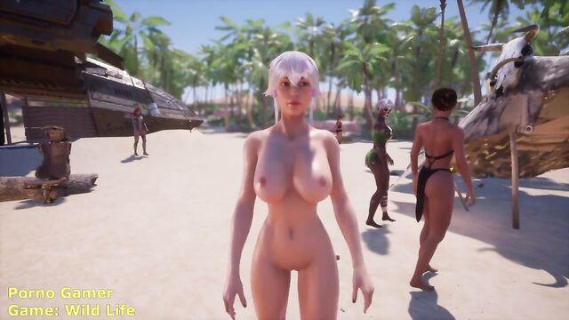Отрывок из порно игры Wild Life: Секс с минотавром